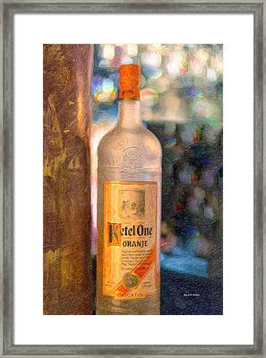 A Bottle Of Ketel One Framed Print by Angela A Stanton