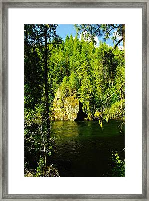 A Boulder Across The Seleway River  Framed Print by Jeff Swan