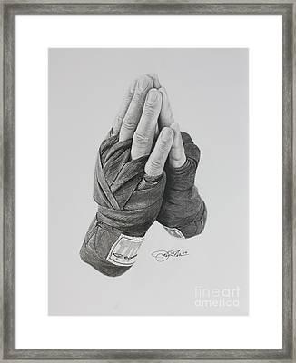 A Boxer's Prayer Framed Print by Joshua Navarra