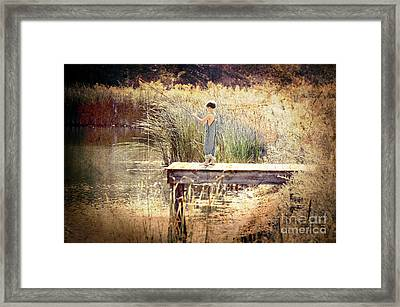 A Boy Fishing Framed Print by Jt PhotoDesign