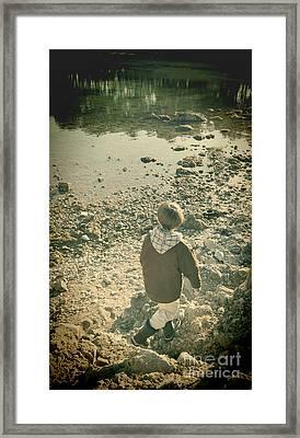 A Boy Framed Print by Jasna Buncic
