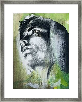 A Boy Named Persistence Framed Print by Rene Capone