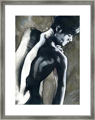 A Boy Named Shadow Framed Print by Rene Capone