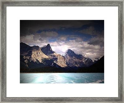 A Break In The Clouds Framed Print by Janet Ashworth
