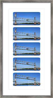 A Bridge Opening Framed Print by Olivier Le Queinec