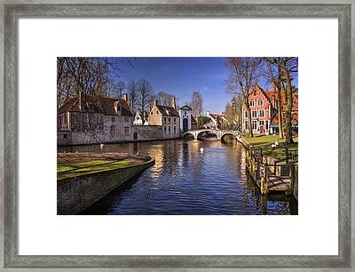 Blue Bruges Framed Print by Carol Japp