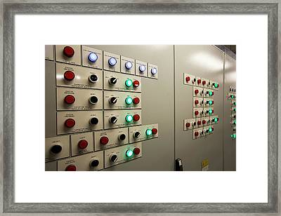 A Building Control Panel Framed Print by Ashley Cooper