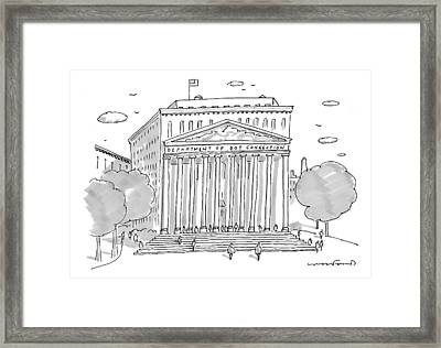 A Building In Washington Dc Is Shown Framed Print by Michael Crawford