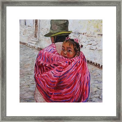A Bundle Buggy Swaddle - Peru Impression IIi Framed Print by Xueling Zou