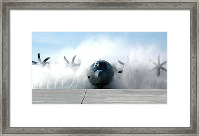 A C-130j Super Hercules Framed Print by Celestial Images
