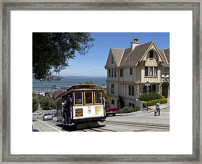 A Cable Car On Hyde Street Framed Print by Mountain Dreams
