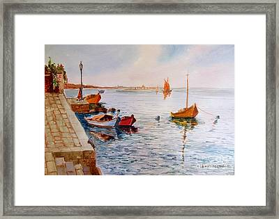 A Calm Day Framed Print by George Siaba