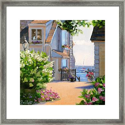 A Cape Cod Paradise Framed Print by Laura Lee Zanghetti