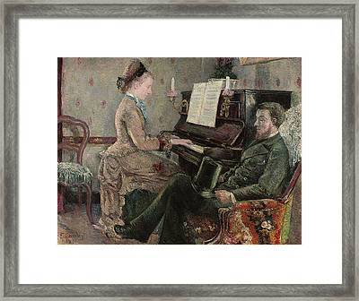 A Captive Audience Framed Print by Frederic Samuel Cordey