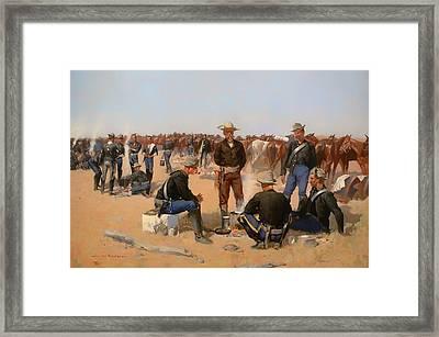 A Cavalryman's Breakfast Framed Print by Mountain Dreams
