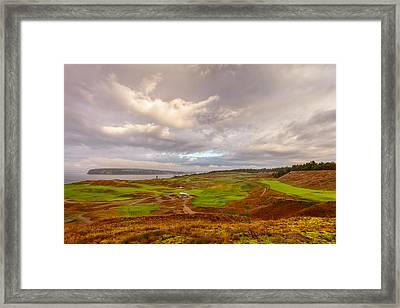 A Chambers Bay Morning Framed Print by Ken Stanback