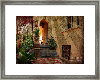 A Charleston Garden Framed Print by Kathy Baccari