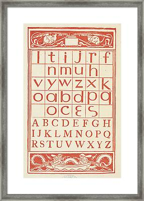 A Chart Showing Letters Of The Alphabet Framed Print by British Library