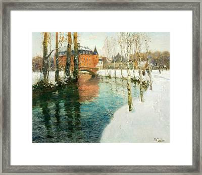 A Chateau In Normandy Framed Print by Frits Thaulow