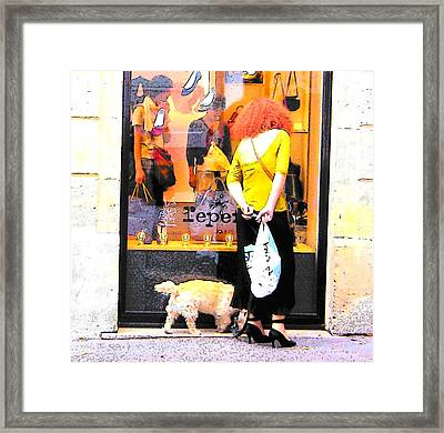 A Chic Parisian Lady Framed Print by Jan Matson