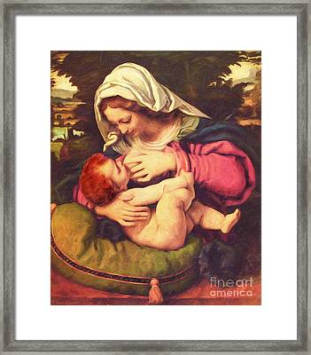 A Child Is Born No Text Framed Print by Lianne Schneider