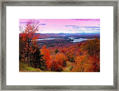 A Chilly Autumn Day On Mccauley Mountain Framed Print by David Patterson