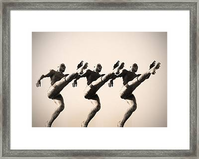 A Chorus Line Framed Print by Bill Cannon