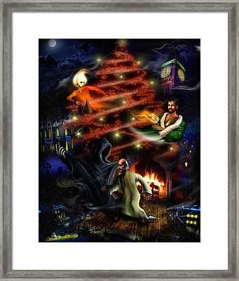 A Christmas Carol Framed Print by Alessandro Della Pietra