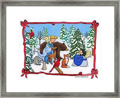 A Christmas Scene 2 Framed Print by Sarah Batalka