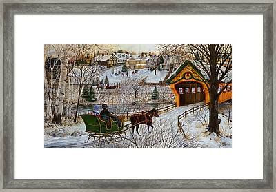 A Christmas Sleigh Ride Framed Print by Doug Kreuger