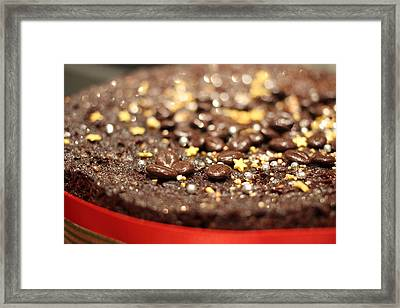 A Christmas Spice Chocolate Fruit Cake Framed Print by Ash Sharesomephotos