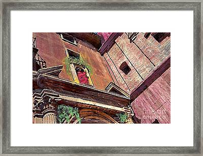 A Church In Murcia Framed Print by Sarah Loft
