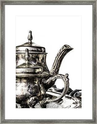 A Classy Tea Framed Print by Caitlyn  Grasso