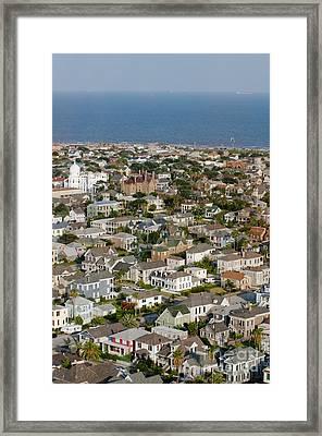 A Clear Day On Galveston Island Framed Print by Barbara Rabek
