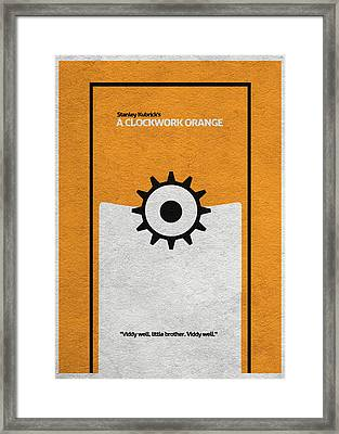 A Clockwork Orange Framed Print by Ayse Deniz