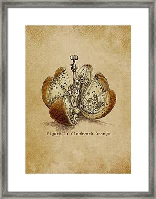 A Clockwork Orange Framed Print by Eric Fan