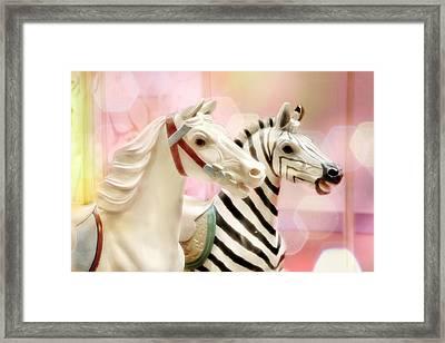 A Close Race Framed Print by Amy Tyler