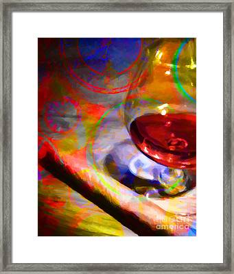 A Cognac Night 20130815 Framed Print by Wingsdomain Art and Photography