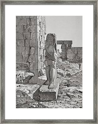 A Colossus At The Entrance Framed Print by .