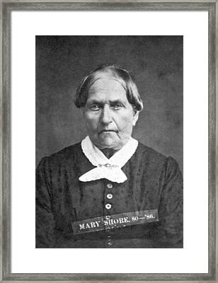 A Convicted Woman Framed Print by Smith