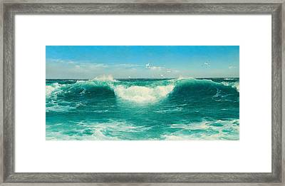 A Cornish Roller Framed Print by David James