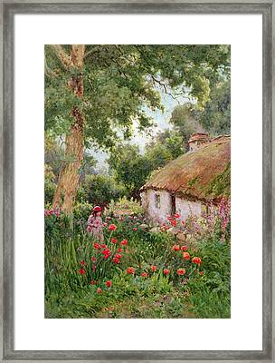 A Cottage Garden Framed Print by Tom Clough