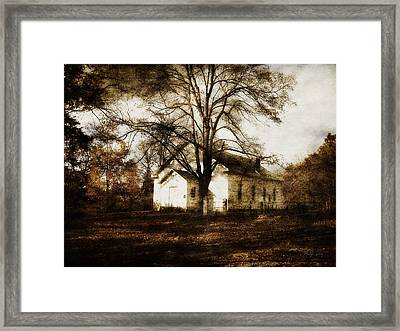A Country Church Framed Print by Cynthia Lassiter