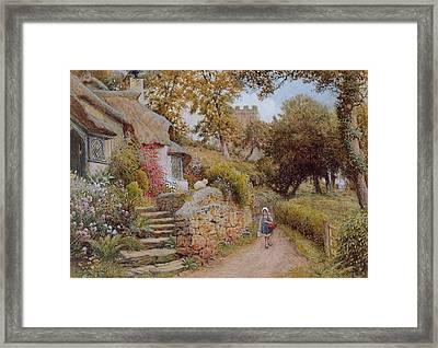 A Country Lane Framed Print by Arthur Claude Strachan