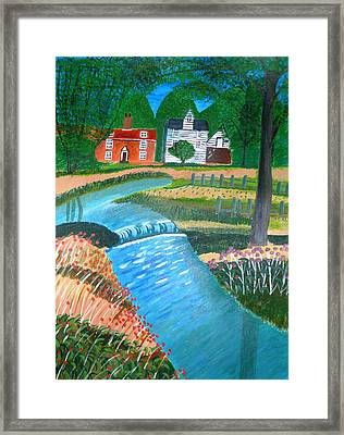 A Country Stream Framed Print by Magdalena Frohnsdorff