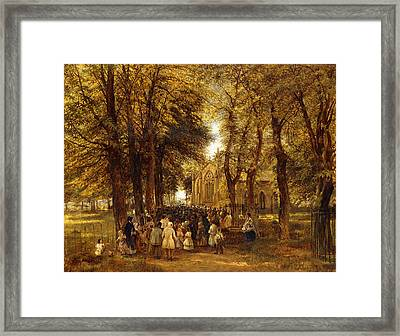 A Country Wedding Framed Print by Charles Thomas Burt