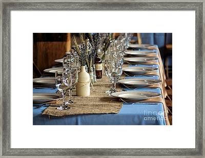 A Country Wedding Framed Print by Olivier Le Queinec