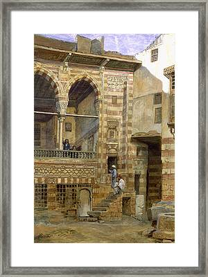 A Courtyard In Cairo Framed Print by Frank Dillon