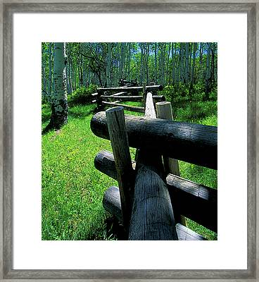 A Crooked Fence Framed Print by Mike  Bennett