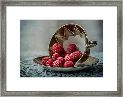 A Cupfull Of Raspberries Framed Print by Maggie Terlecki